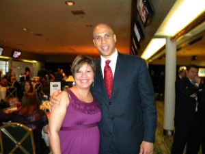 Mayor Cory Booker and Patricia Campos