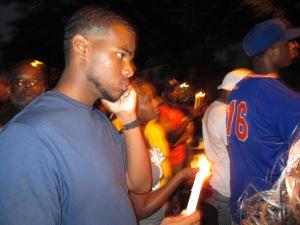 Candlelight vigil in Linden